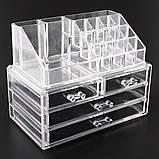 Настольный органайзер для косметики Cosmetic Organizer Makeup Container Storage Box 4 Drawer, фото 2