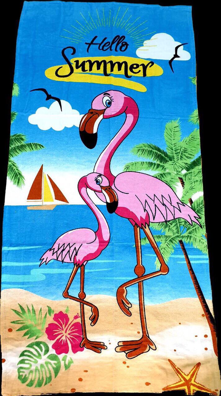 Полотенца пляжные  75*150  (400г/м2),  вес 370г, Турция
