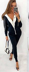 Женский костюм-двойка с брюками и кофтой на молнии 42-46 р