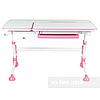 Комплект для девочки 👸 парта для школы Amare Pink + эргономичное кресло FunDesk Solerte Pink, фото 3