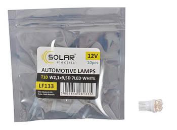 "Светодиод 12V T10 LED 7 белый (10шт.уп) ""Solar"" LF133_P (пол.пакет)"