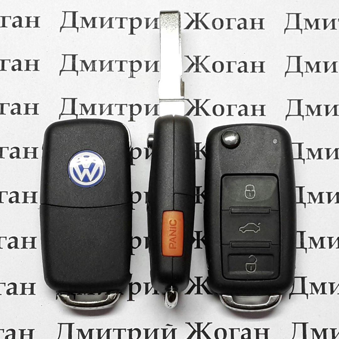 Выкидной ключ для VOLKSWAGEN TOUAREG,(Фольксваген Туарег)  3 + 1 - кнопка  315 Mhz