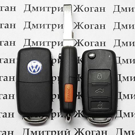Выкидной ключ для VOLKSWAGEN TOUAREG,(Фольксваген Туарег)  3 + 1 - кнопка  315 Mhz , фото 2