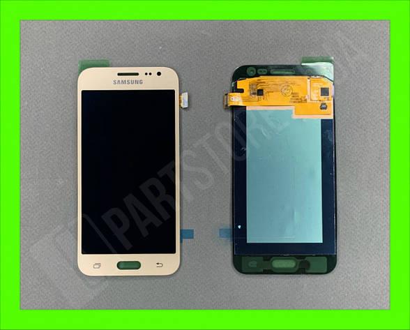 Дисплей модуль Samsung SM J200 OLED J2 Gold 2015, фото 2
