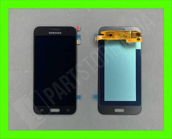 Дисплей модуль Samsung SM J200 OLED J2 Black 2015, фото 2