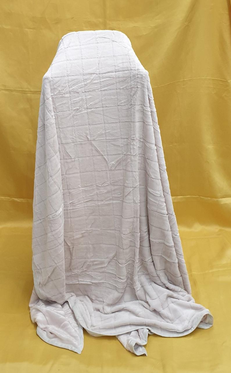 Плед - покрывало шиншилла 160х210 светло-серый