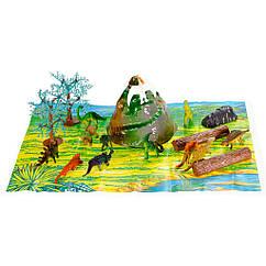 Набор фигурок Динозавры 15 шт. Оригинал Wing Crown D33704