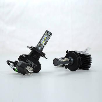 """Лампа LED H4 радіатор 4000Lm FORT """"F1"""" /CSP Chip/28W/5000K/IP65/9-16v (2шт) (10міс.гарантія)"""