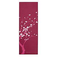 Коврик для йоги Gaiam Cherry Blossom 61332 4мм, розовый