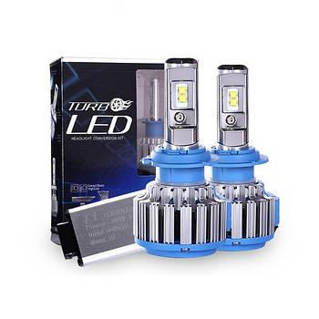 "Лампа LED H7 вентилятор 3600Lm ""Turbo Led"" T1 /CREE/40W/6000K/IP65/8-48v (2шт) 6міс.гарантія"
