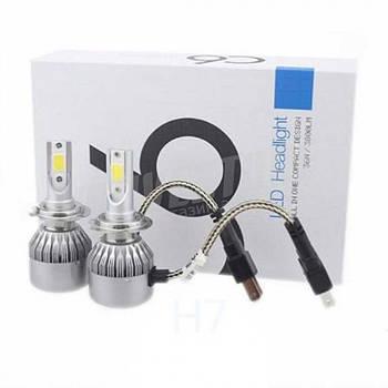 """Лампа LED H7 вентилятор 3800Lm """"C6"""" /COB/36W/6500K/IP65/8-48v (2шт) EA"""