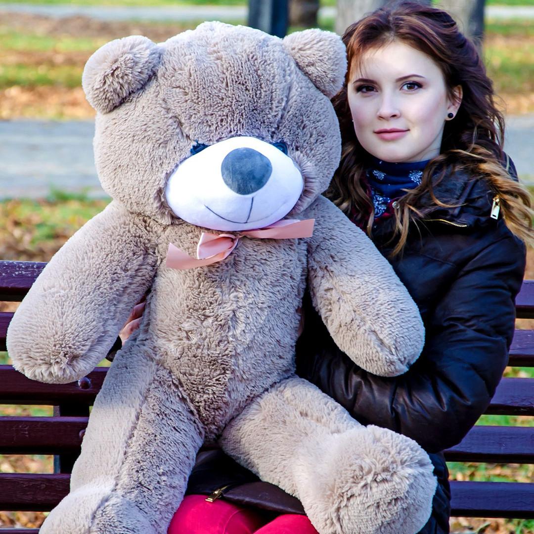 Плюшевые медведи: Плюшевый медвежонок Рафаэль 1 метр (100 см), Капучино