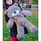 Плюшевые медведи: Плюшевый медвежонок Рафаэль 1 метр (100 см), Капучино, фото 3