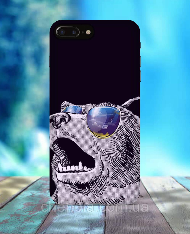 Чехол для iPhone 7 8 7 Plus 8 Plus Медведь в очках