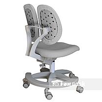 Комплект подростковый👫 парта FunDesk Amare Pink с выдвижным ящиком + подростковое кресло FunDesk Primo Grey, фото 3