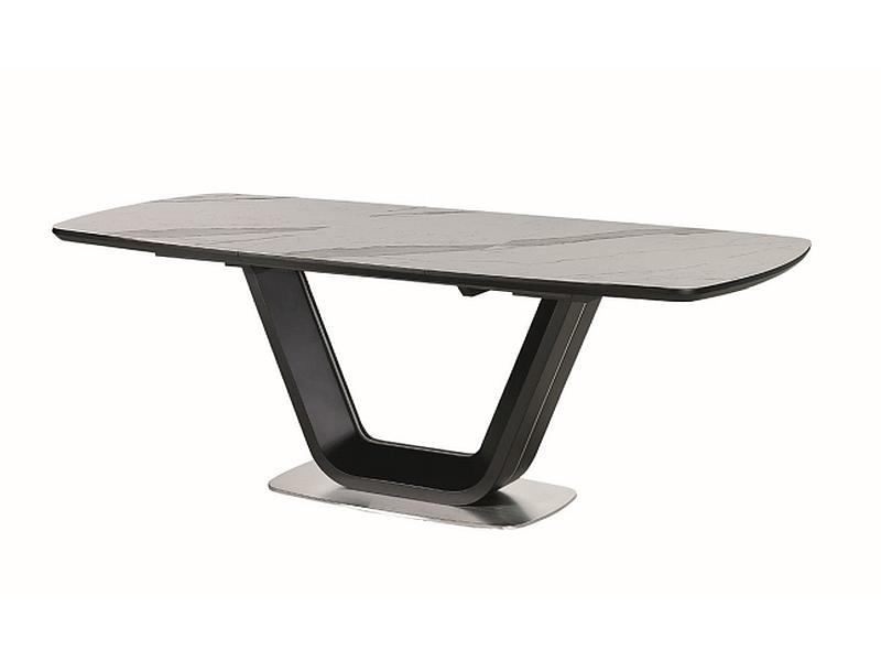 Стол ARMANI италийская керамика с эффектом мрамора 160 (220) X90