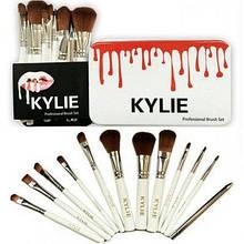 Профессиональный набор кистей для макияжа Kylie Professional Brush Set 12 шт, большой набор кистей для
