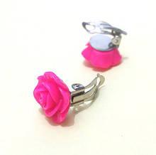 Клипсы на уши женские Розы