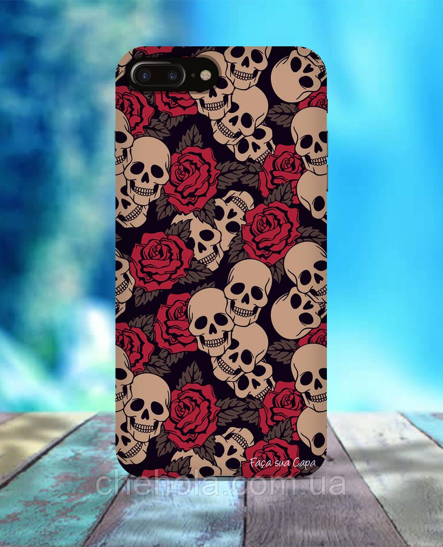 Чохол для iPhone 7 8 7 Plus 8 Plus Череп і квіти