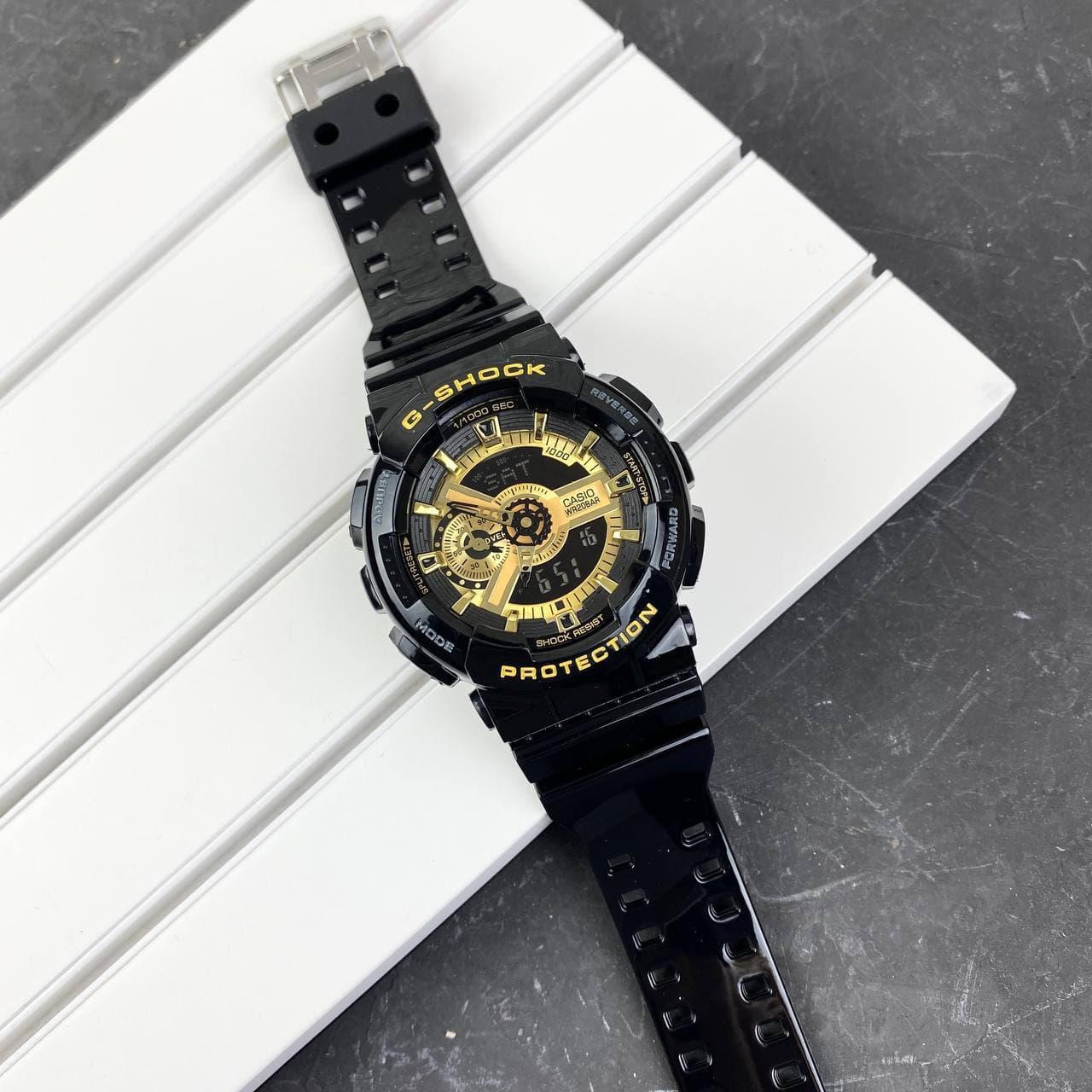 Мужсие наручные часы Casio G-Shock GA-110 Black-Gold New