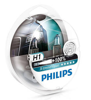"Лампа H1 12V 55W +100% X-treme Vision ""Philips"" (Box-2шт) (12258XVS2)"