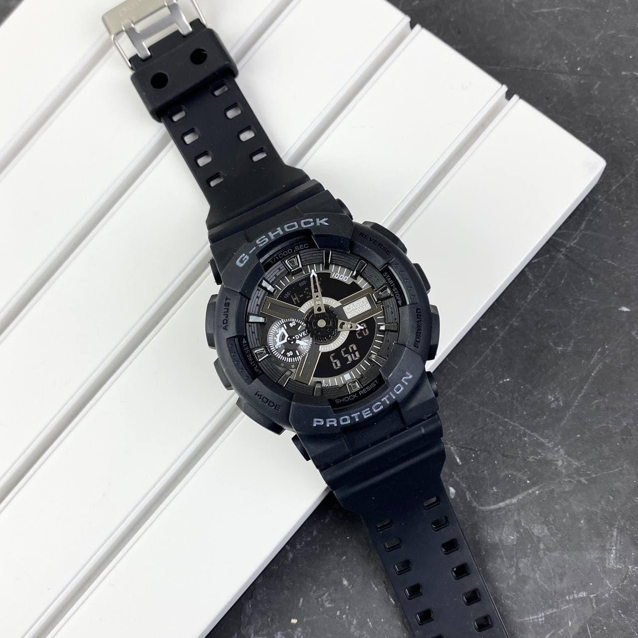 Мужские наручные часы Casio G-Shock GA-110 Black-Silver New