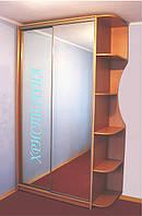 Шкаф купе двери зеркало с угловым элементом