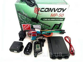 """Сигнализация 2way  """"Convoy""""  MP-50 - 2 брелка/1-дв.LCD дисп/без сирены/турботаймер/ дальн.450/1000м."""