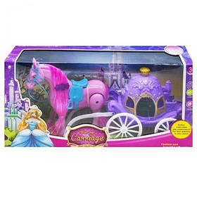 "Карета с лошадкой ""Волшебная карета"", розовая 686-713"