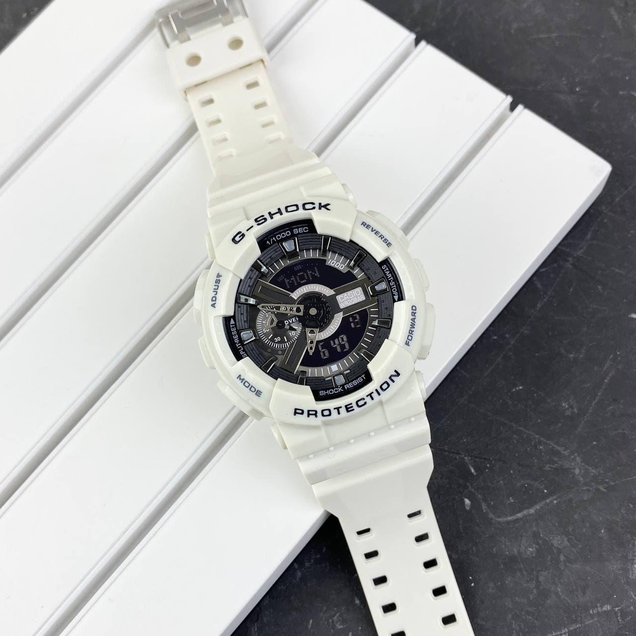 Мужские наручные часы Casio G-Shock GA-110 White-Black New