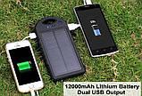 Power Bank 10000 mAh на солнечных батареях, фото 5