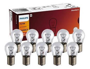 """Лампа 24V (цок.ВА15ѕ) P21W """"Philips"""" (13498CP) (уп.10шт) *"""