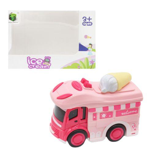 """Машинка """"Мороженое"""", розовый 2618"""