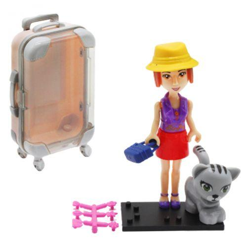"Кукла в чемоданчике ""Путешественница"", с котенком 2025"