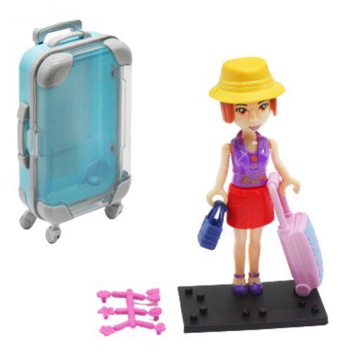 """Кукла в чемоданчике """"Путешественница"""", в желтой шляпке 2025"""