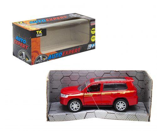 """Машинка металлопластик """"Toyota Land Cruiser 300"""", красный S29040"""