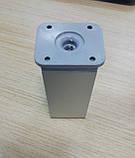 Опора (ніжка) квадратна регульована GIFF NA02 Н=50, 80, 100, 120, 150 алюміній, фото 6