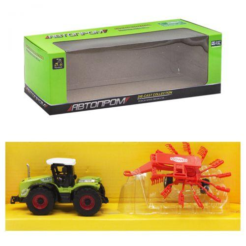 """Машинка """"Автопром. Трактор"""", (красный прицеп """"Mower"""") 7786-2"""