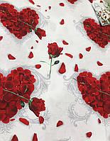 Бязь Gold Серце з троянд 220 см