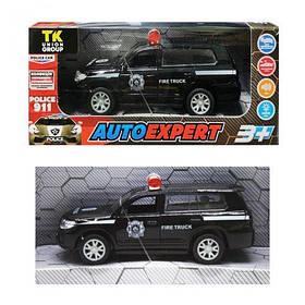 "Машинка металлопластик ""Toyota Land Cruiser 300 Police"", чёрная P94039"