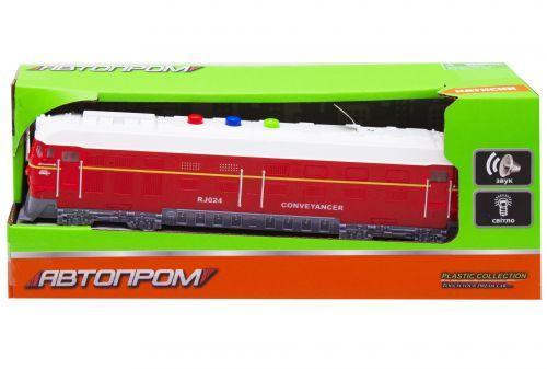 """Поезд из серии """"Автопром"""", красный 7792A"""