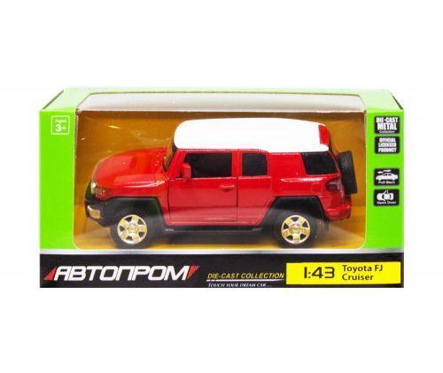 """Машинка """"Toyota FJ Cruiser"""" из серии """"Автопром"""", красный 4305"""