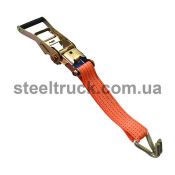 Механізм стягування 5т + крюк12мм зварної +лента50мм поліестер(100гр/м)