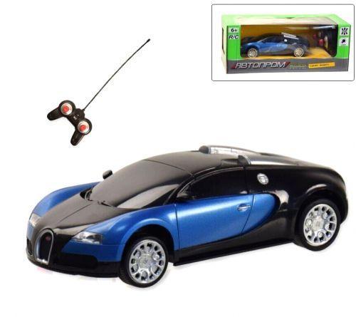 """Машинка """"Bugatti Veyron"""" из серии """"Автопром"""" на радиоуправлении, синий 8810"""