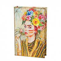 Книга-сейф Девушка в цветах, фото 1