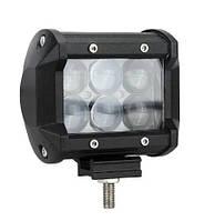 Автофара LEDна авто (6 LED) 5D-18W-SPOT (95 х 70 х 80) / Фара светодиодная автомобильная, Автофара на крышу