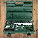 """Автомобильный набор инструментов для авто кейсы. Набор насадок торцевых и бит 1/4"""", 1/2"""" 72шт GRAD (6004245), фото 5"""