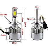 LED лампы светодиодные для фар автомобиля c6 h1, фото 2