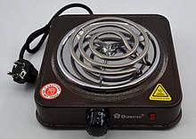 Электроплита 1 конфорка с широкой спиралью Domotec MS15531, электроплита, электроплита 1 комфорка, кухонная