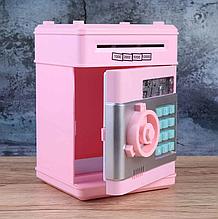 Детская электронная копилка сейф Банк, копилка для детей со звуковыми эффектами, детский электронный сейф,